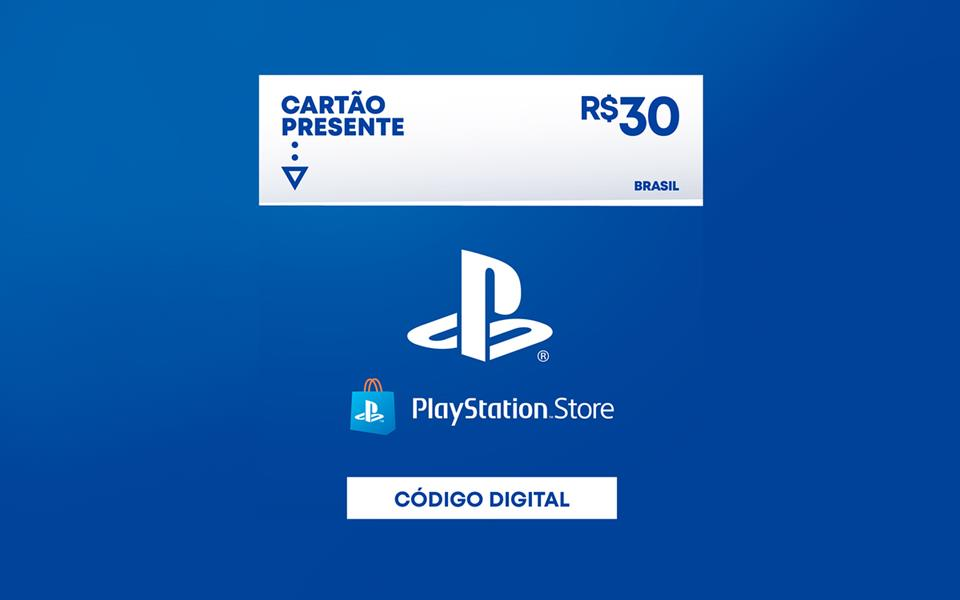 R$30 - Cartão Virtual PlayStation Store