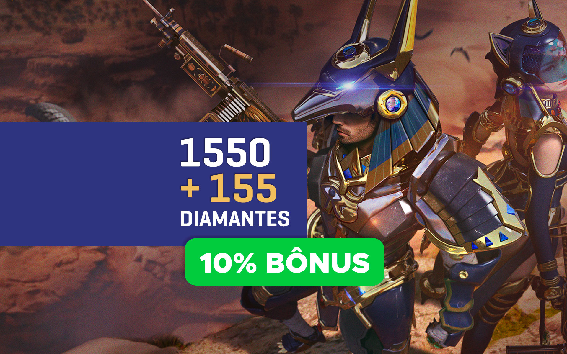 Free Fire - 1.550 Diamantes + 10% de Bônus cover