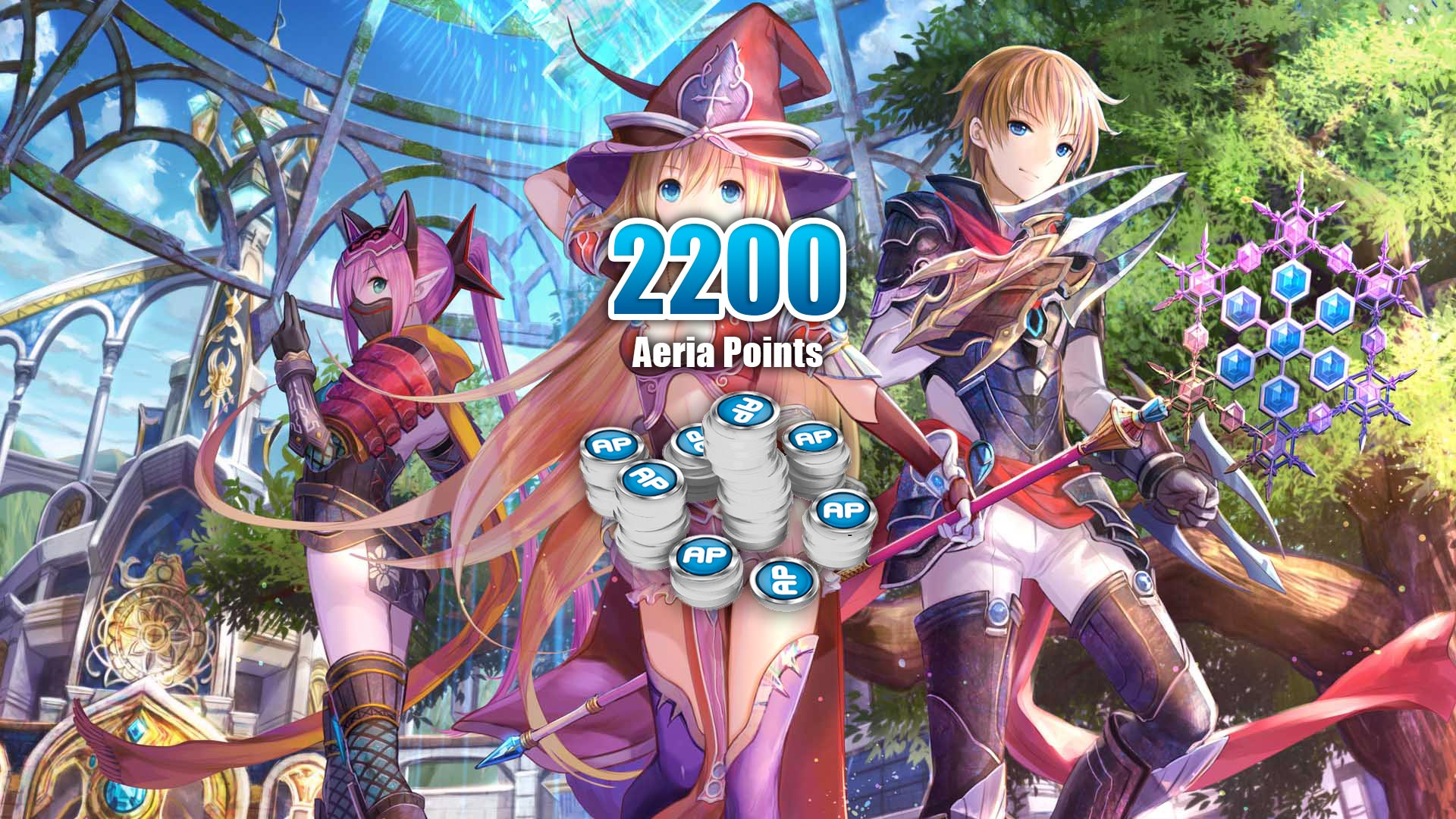 Aura Kingdom - 2.200 Aeria Points cover