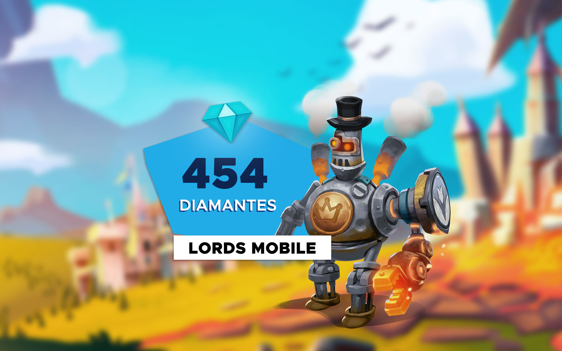 Lords Mobile - 454 Diamantes cover