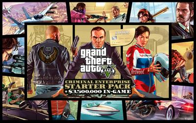 Grand Theft Auto V, Criminal Enterprise Starter Pack and Whale Shark Card cover