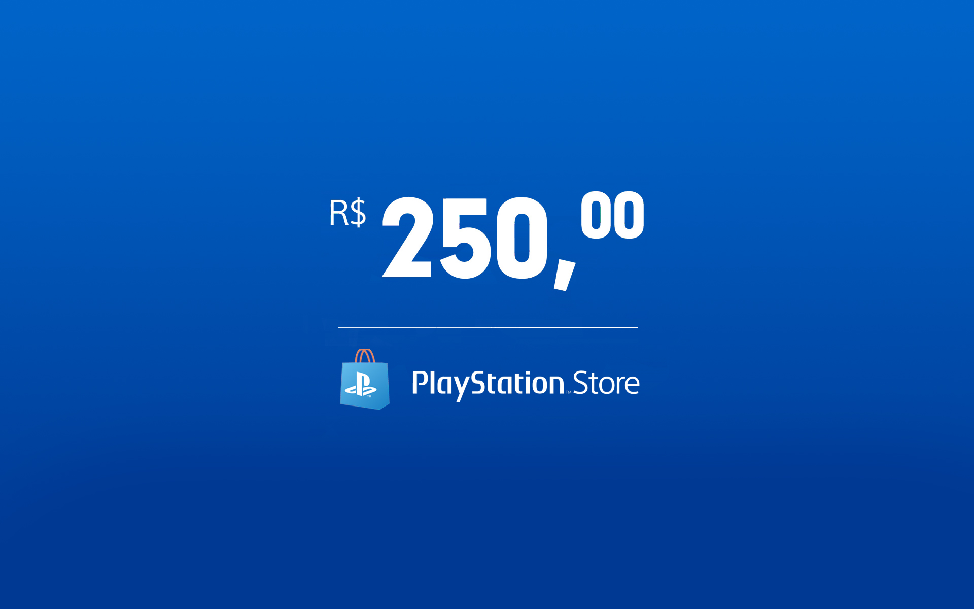R$250 - Cartão Virtual PlayStation Store cover