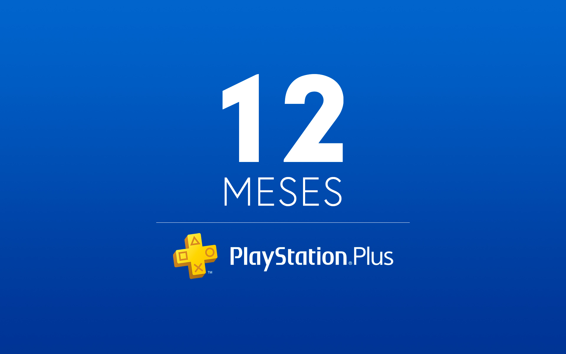 12 Meses - Cartão Virtual PlayStation Plus cover