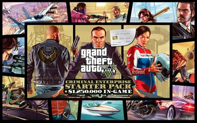 Grand Theft Auto V, Criminal Enterprise Starter Pack and Great White Shark Card Bundle cover