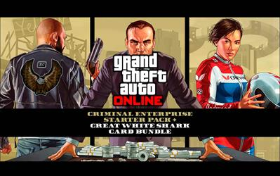 Grand Theft Auto V - Criminal Enterprise Starter Pack and Great White Shark Card Bundle
