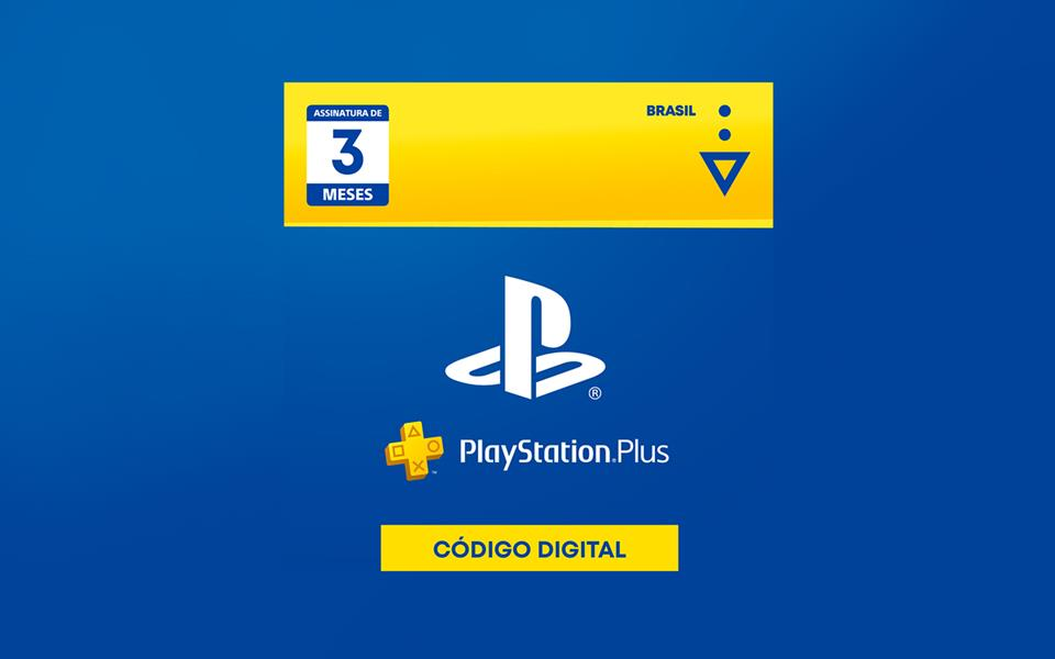 3 Meses - Cartão Virtual PlayStation Plus