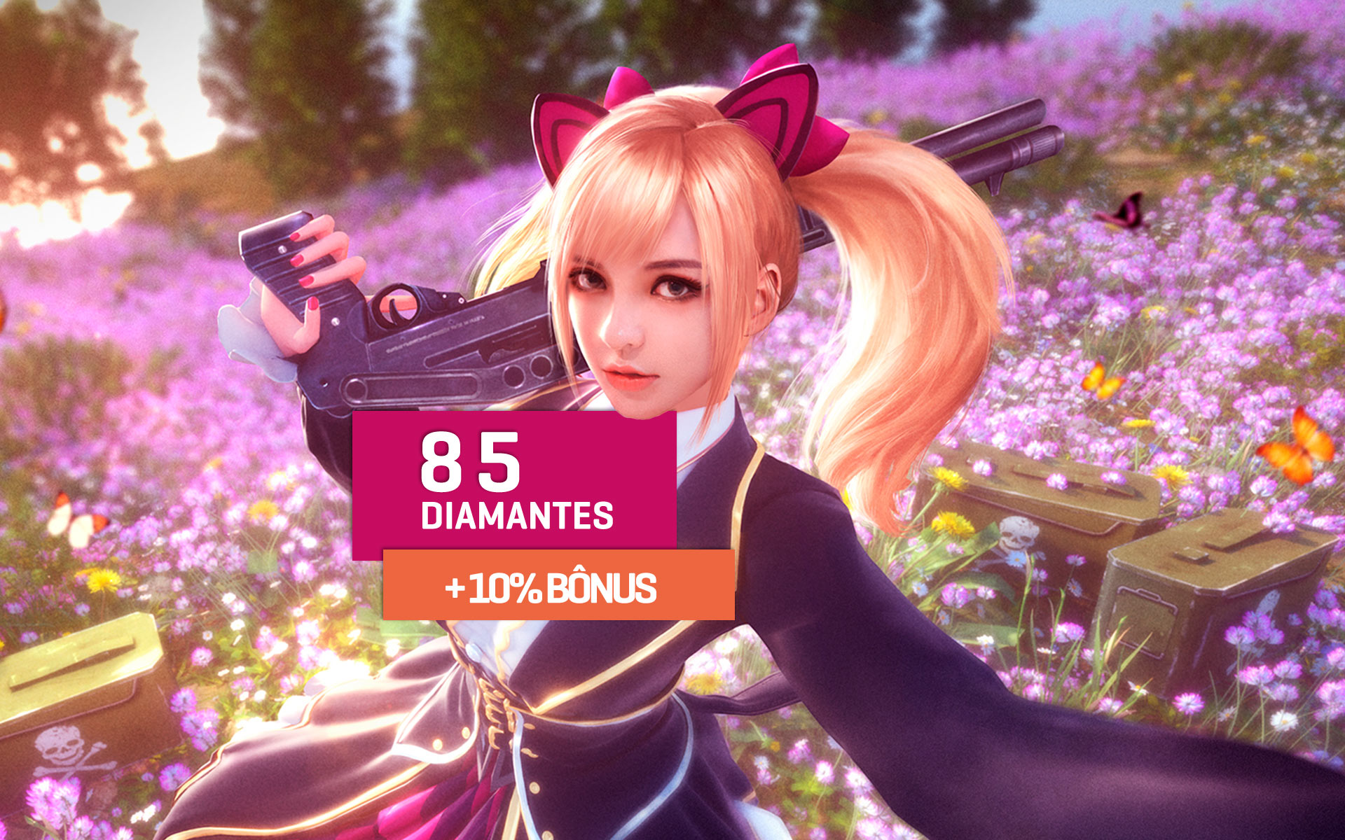 Free Fire - 85 Diamantes +10% Bônus (Total de 94 Dimas) cover