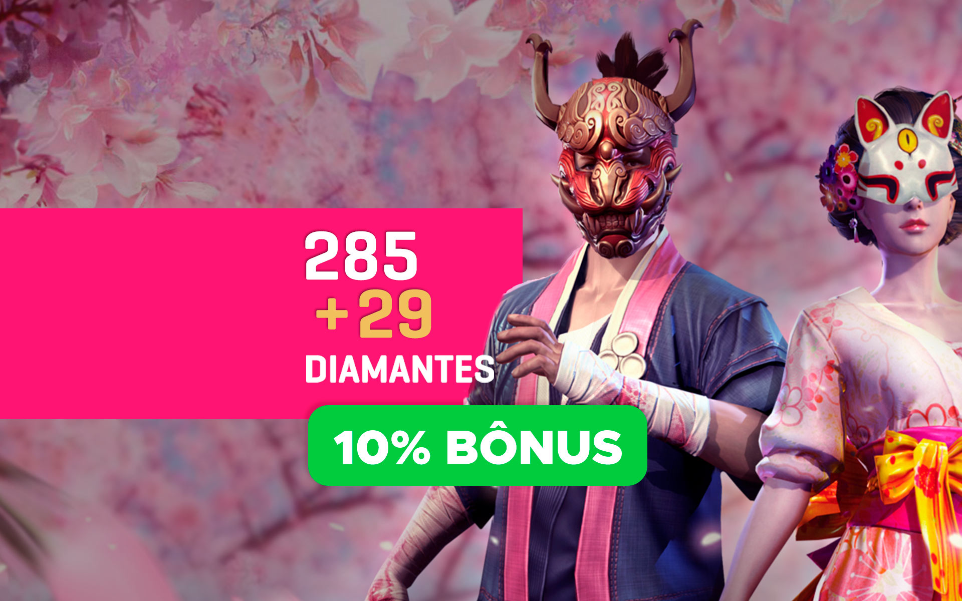 Free Fire - 285 Diamantes + 29 de Bônus cover