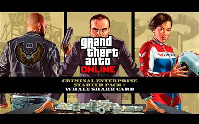 Grand Theft Auto V - Criminal Enterprise Starter Pack and Whale Shark Card